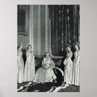 Queen Elizabeth and her attendants Poster