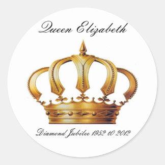 Queen Elizabeth Crown Stickers