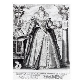 Queen Elizabeth I  1596 Postcard