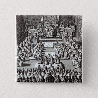 Queen Elizabeth I  and Parliament 15 Cm Square Badge