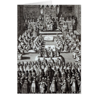 Queen Elizabeth I  and Parliament Card