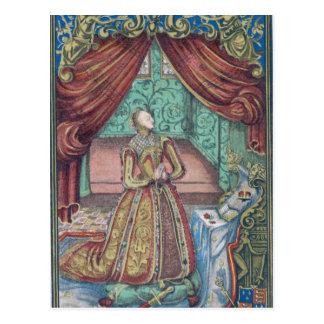 Queen Elizabeth I at Prayer, frontispiece Postcard