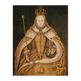 Queen Elizabeth I in Coronation Robes 2 Wood Prints