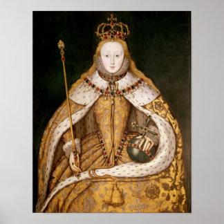 Queen Elizabeth I in Coronation Robes Poster