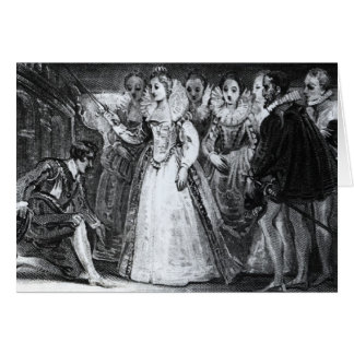 Queen Elizabeth I  Knighting Francis Drake Card