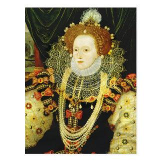Queen Elizabeth I of England Wearing Pearls Postcard