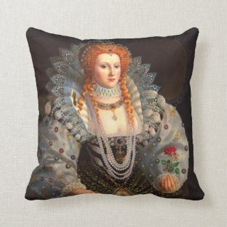 Queen Elizabeth I Pillow Cushion