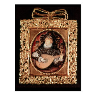 Queen Elizabeth I playing the lute Postcard