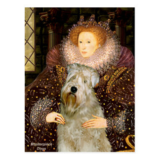 Queen Elizabeth I - Wheaten Terrier Postcard