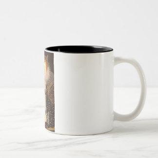 Queen Elizabeth I - Wire Fox Terrier #1 Two-Tone Coffee Mug