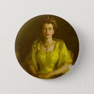 Queen Elizabeth II 6 Cm Round Badge