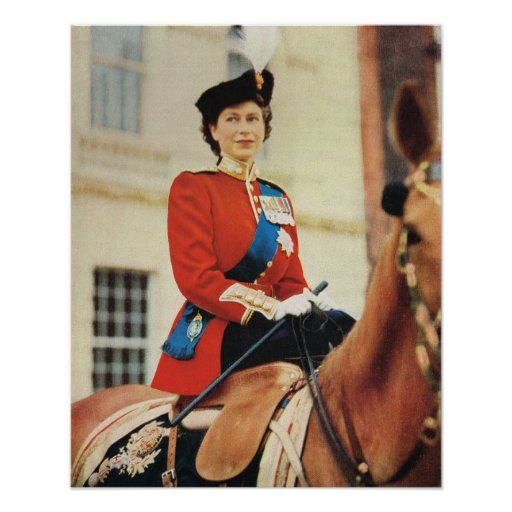 Queen Elizabeth II at the Trooping of the Colour Posters