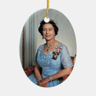 Queen Elizabeth II Queen of the United Kingdom Ceramic Oval Decoration