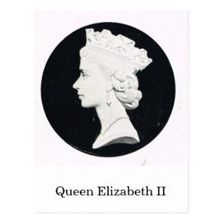 Queen Elizabeth II, relief portrait Postcard