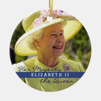 Queen Elizabeth of England Ceramic Ornament
