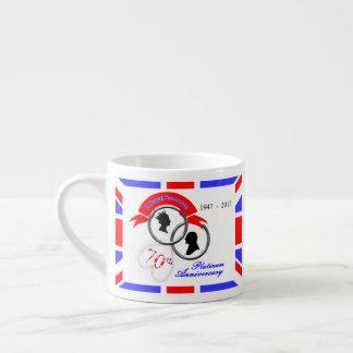 Queen Elizabeth Prince Philip 70th Anniversary Espresso Cup