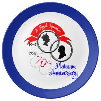 Queen Elizabeth Prince Philip 70th Anniversary Plate