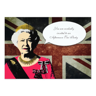 Queen Elizabeth Tea Party Invitation