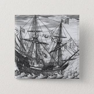 Queen Elizabeth's Galleon 15 Cm Square Badge