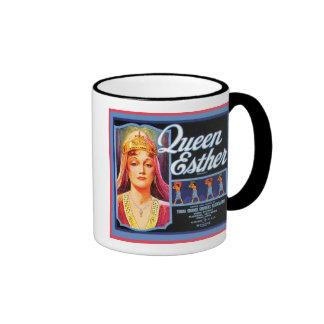 Queen Esther Vintage Crate Label Mug