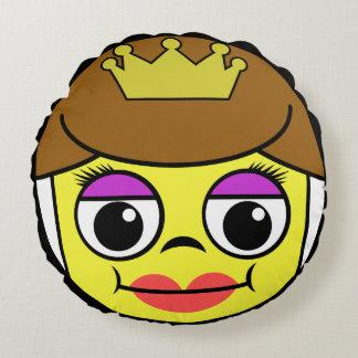 Queen Face Round Cushion
