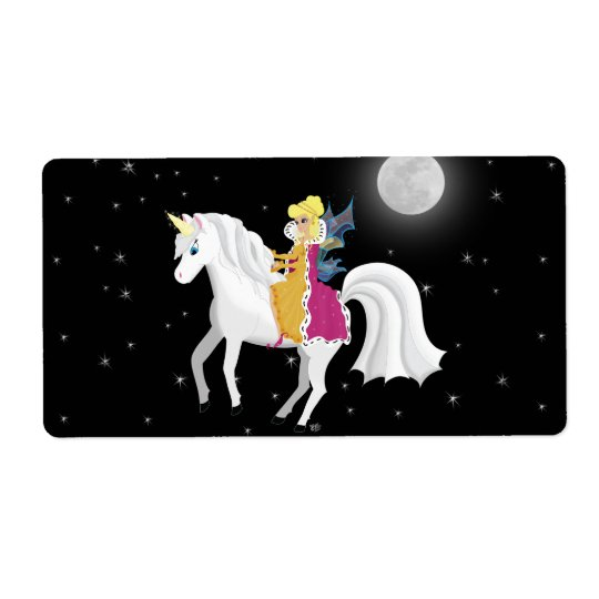 Queen Faery and Unicorn Avery Label Shipping Label