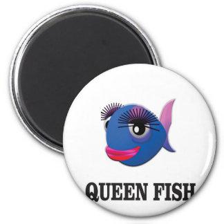 queen fish blue yeah magnet