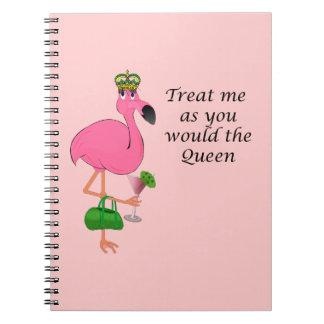 Queen Flamingo Notebook