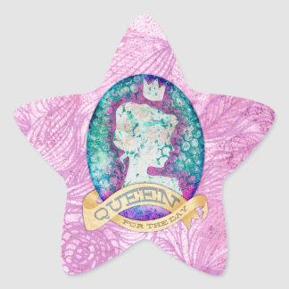 Queen For The Day Birthday Star Sticker