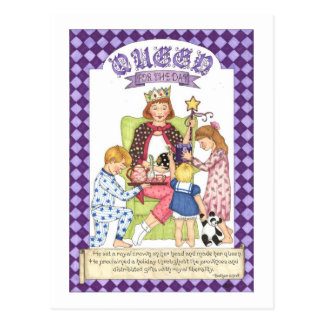 Queen for the Day Inspirational Postcard