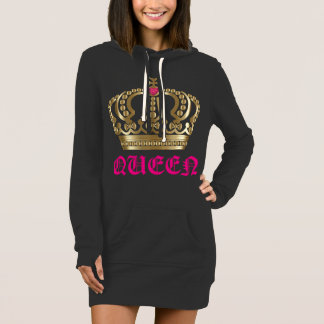 Queen gold and pink crown Hoodie dress