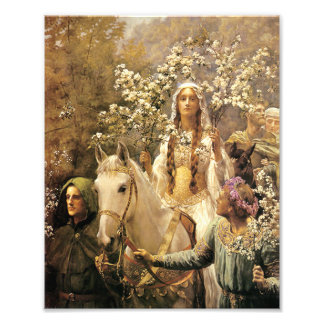 Queen Guinevere Maying Print