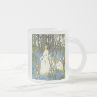 Queen Guinevere Sir Lancelot Arthurian Fairy Tale Frosted Glass Coffee Mug