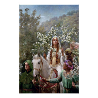Queen Guinevere's Maying by John Collier Poster
