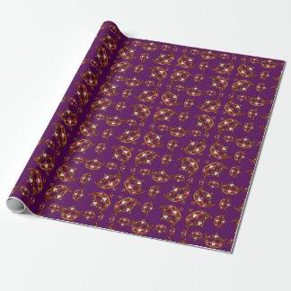 Queen Hearts Gold Crown Tiara pattern purple gift