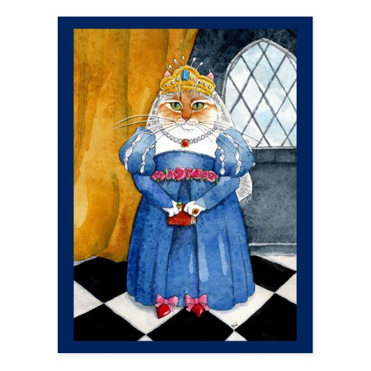 Queen Heather royal cat post card