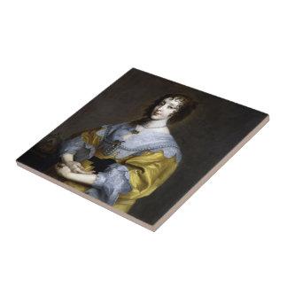 Queen Henrietta Maria Ceramic Tile