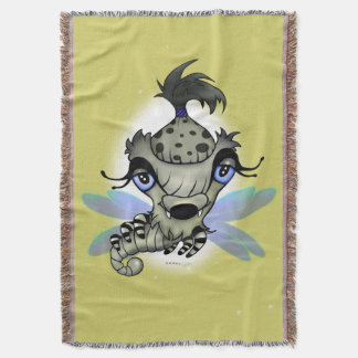 QUEEN HORSHA ALIEN CARTOON Throw Blanket