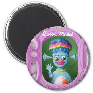 Queen Mabel & Cedric 6 Cm Round Magnet