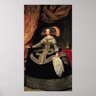 Queen Maria Anna  of Austria, 1652 Poster