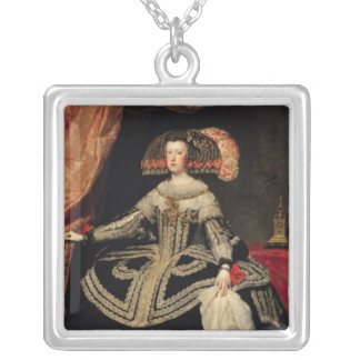 Queen Maria Anna  of Austria, 1652 Silver Plated Necklace