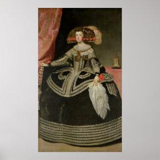 Queen Maria Anna of Austria , c. 1652 Poster