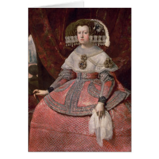 Queen Maria Anna of Spain in a red dress Greeting Card