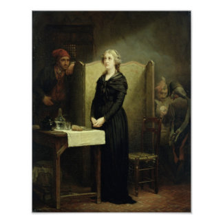 Queen Marie Antoinette in the Conciergerie Poster