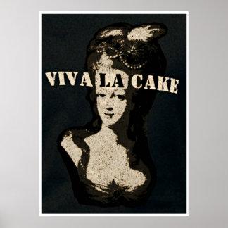 Queen Marie Antoinette Viva la cake Poster Art