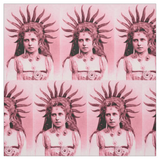 Queen Marie of Romania as the Sun Queen pink Fabric