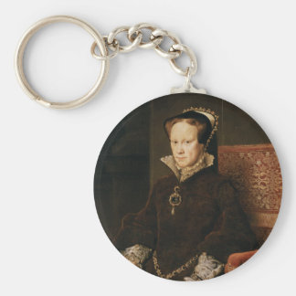 Queen Mary I of England Maria Tudor by Antonis Mor Key Ring