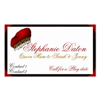 Queen Mum Calling Cards Pack Of Standard Business Cards