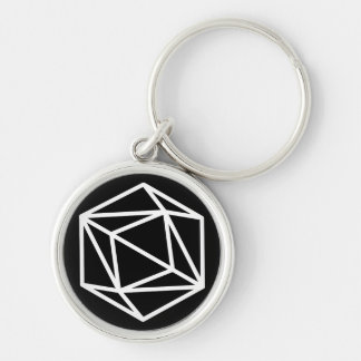 Queen (n) / Small (3.7 cm) Premium Round Key Ring