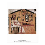 Queen Nefertari By Painter Of The Grave Chamber Postcard